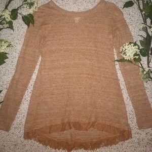 Thin Carmel Sweater